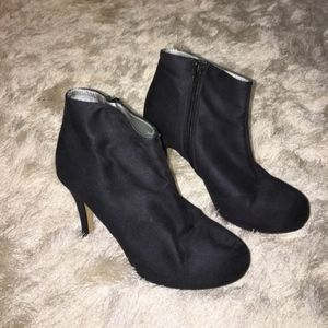 Shoes - Spain/Black Suede Ankle Booties Euro 38/US 8